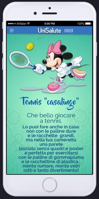minnie tennis unisalute junior